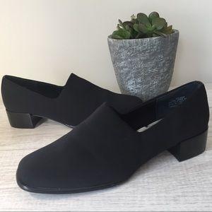 NWOT Liz Baker Black Loafers with heel